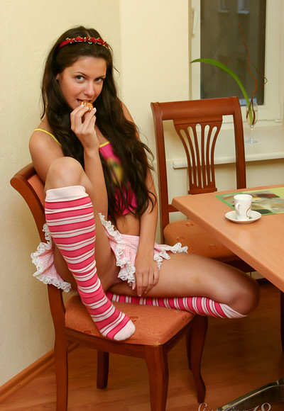 Isabella in Coffee And Cookies from Stunning 18
