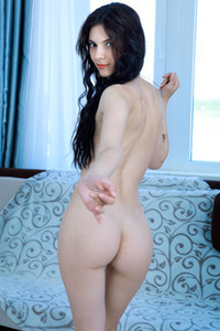 Black haired nude