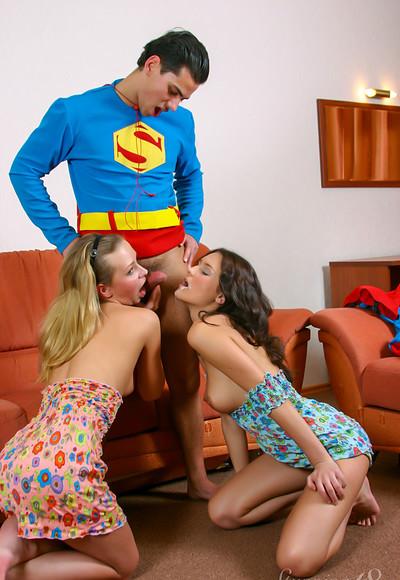 Kenia H and Brigitta F in Briggitta Super Threesome from Stunning 18