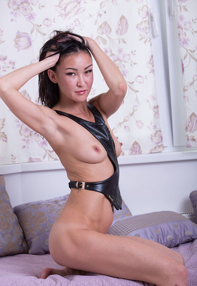 Rusya in Lady in leather from Stunning 18