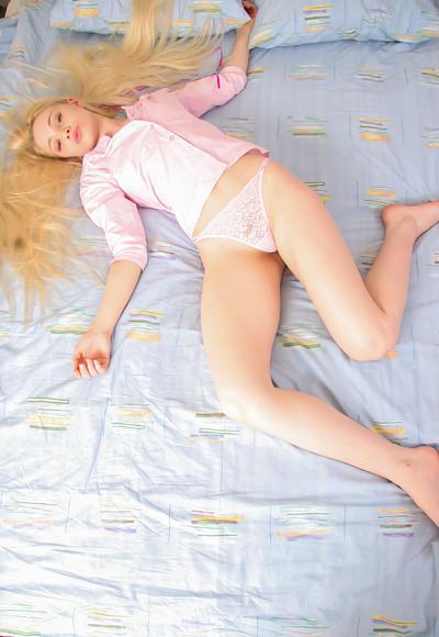Olya N in Olya Hot on Bed from Stunning 18